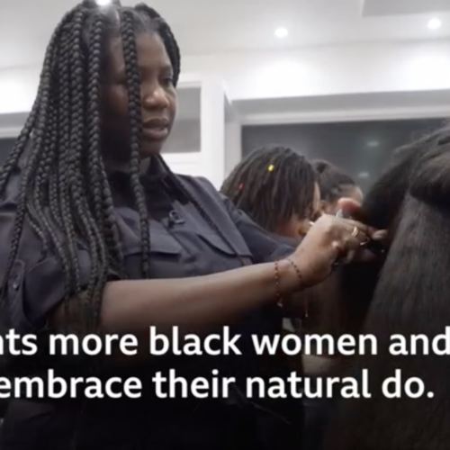 Charlotte Mensah's Afro styling adviced shared on BBC