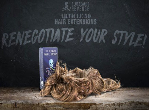 The Bluebeards Revenge launches new range of men's hair extensions