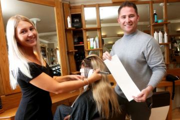 Salon switches to an eco-friendly version of the traditional foil