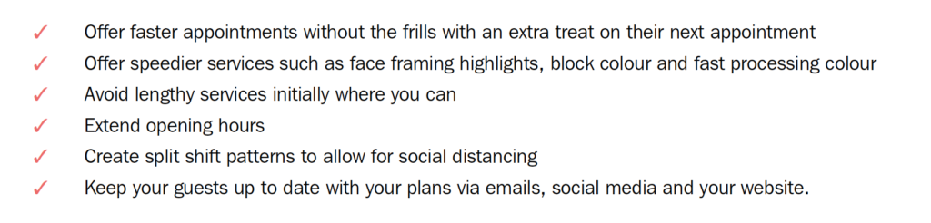 Simon's action checklist for when salons re-open 3