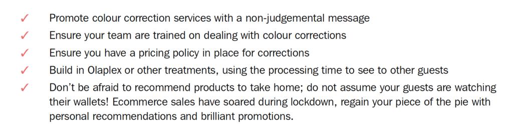 Simon's action checklist for when salons re-open 5