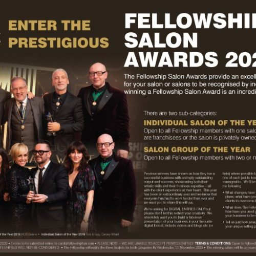 The Fellowship for British Hairdressing launches Salon Awards