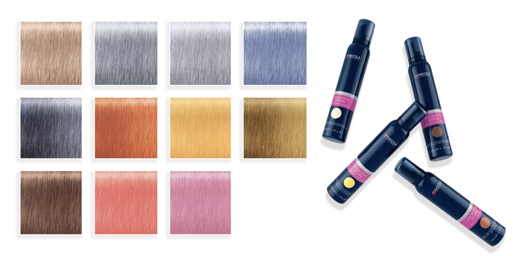 Indola Color Style Mousse – New pastel shades 1