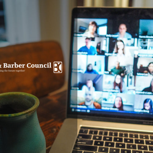 Hair & Barber Council attend virtual meeting with the Small Business Minister.